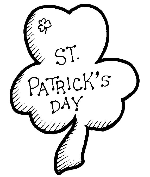 Free clipart blackline st patrick s day. Patricks drawings download fr