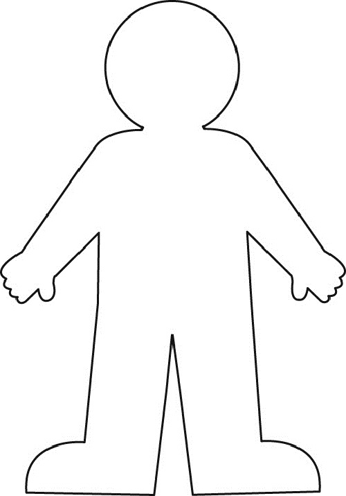 Free clipart body outline.  clipartlook