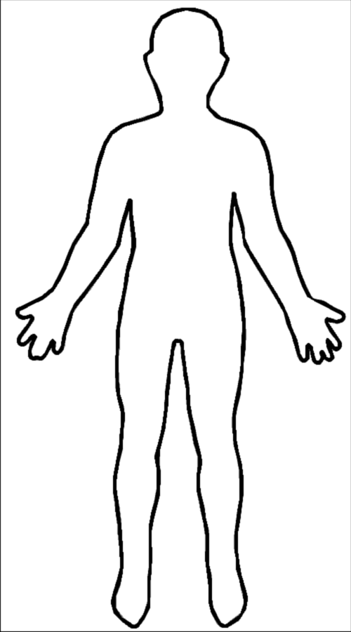 Outline of a body clipart graphic black and white stock Free Body Outline Cliparts, Download Free Clip Art, Free Clip Art on ... graphic black and white stock