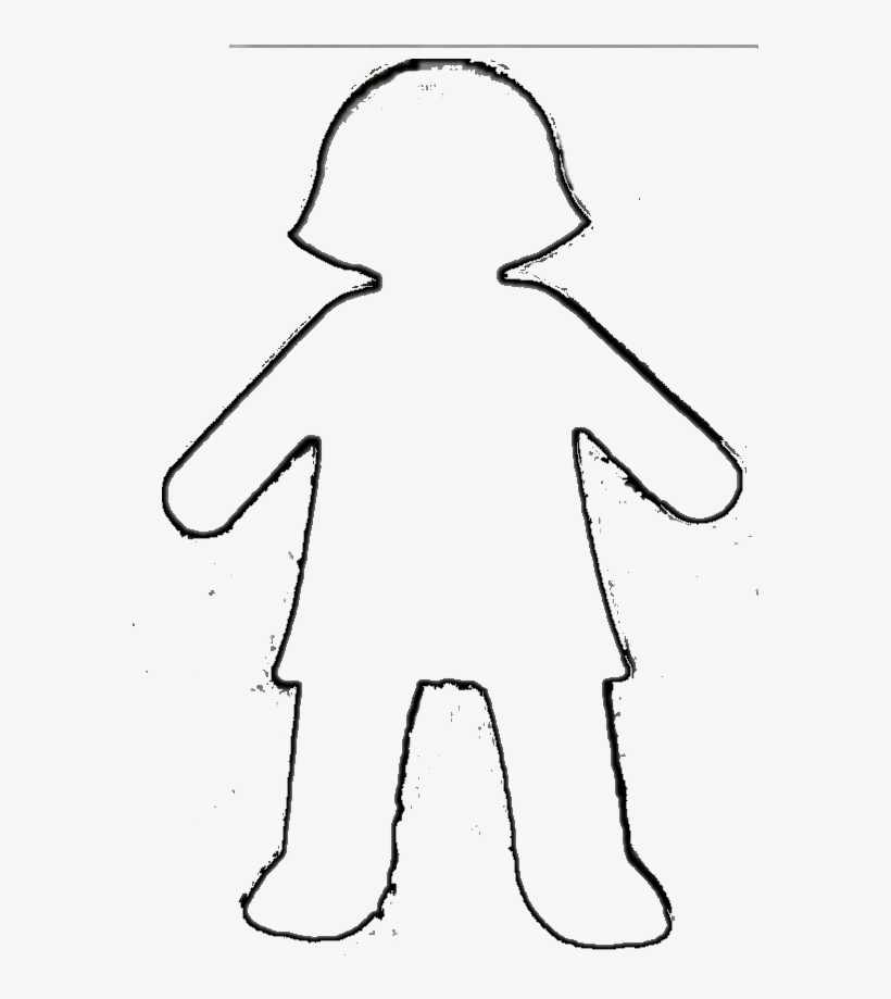 Outline of a body clipart transparent Clipart Body Template Superhero Cliparts Free Download - Boy And ... transparent