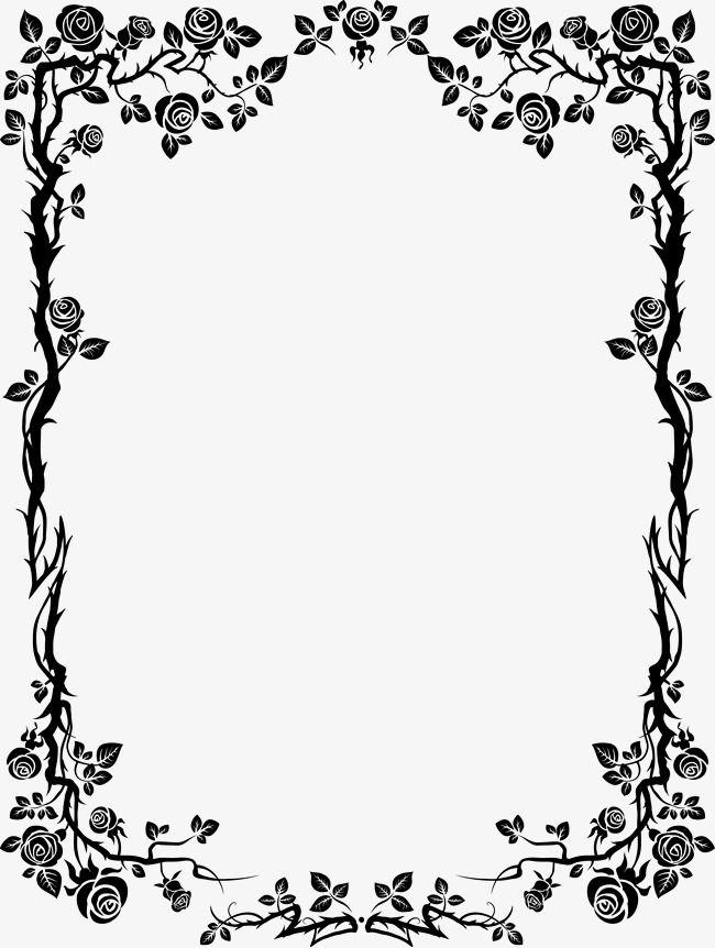 Free clipart boken border box clip royalty free stock Black Borders, Black, Flowers, Frame PNG Transparent Clipart Image ... clip royalty free stock