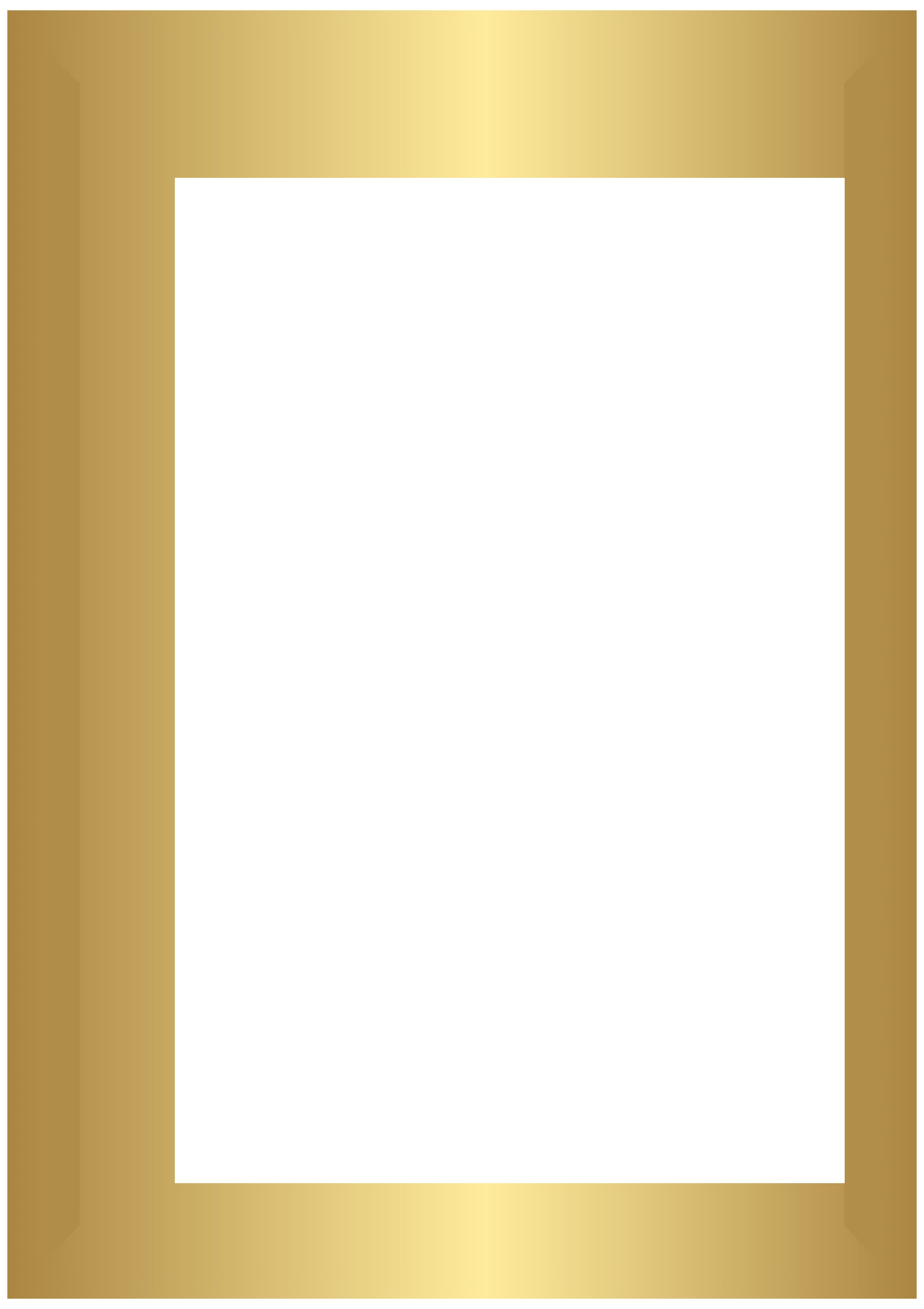 Free clipart book border clip art library stock Golden Deco Border Transparent PNG Clip Art   Gallery Yopriceville ... clip art library stock