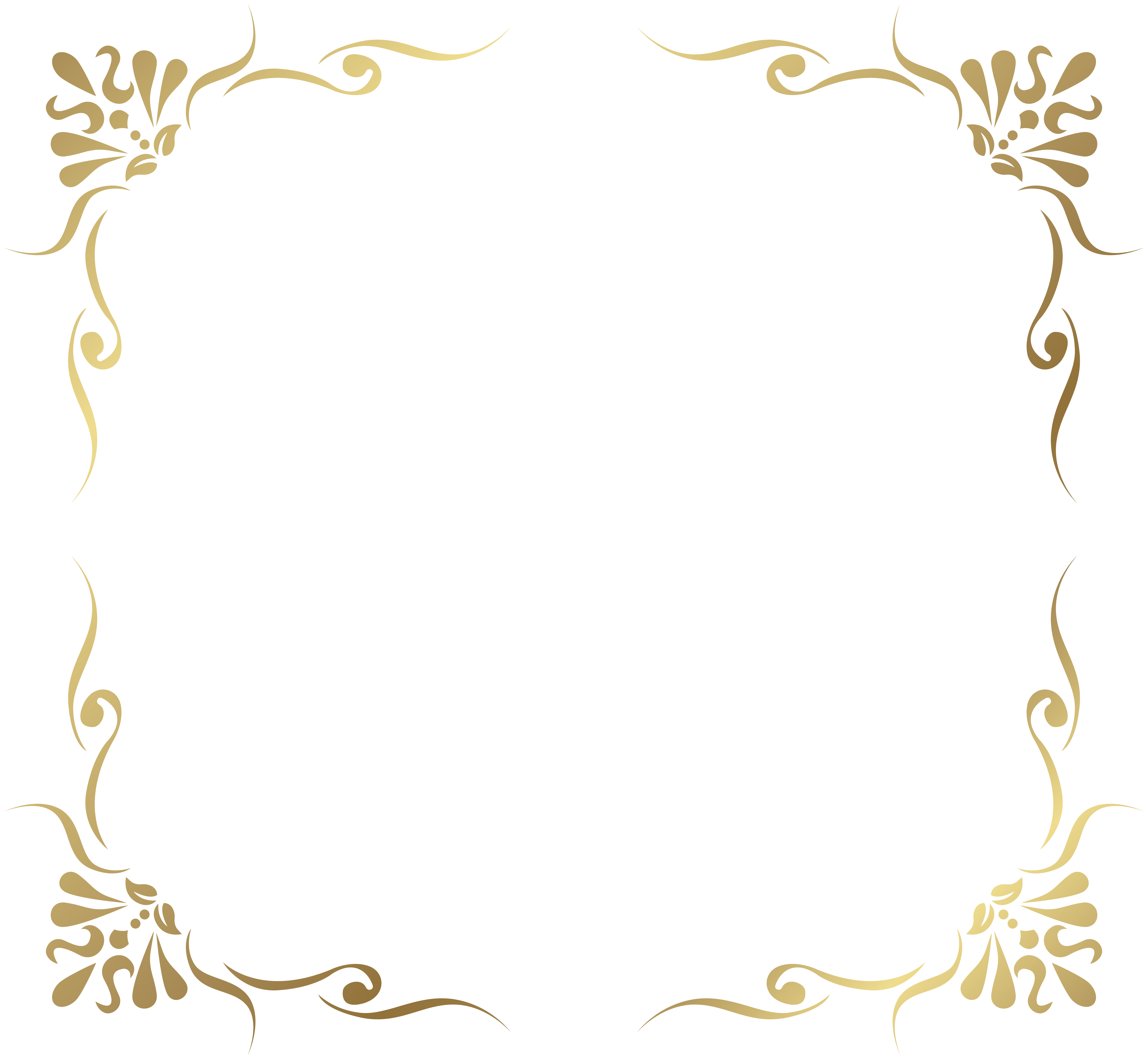 Snowflake clipart transparent background picture transparent download Transparent Decorative Frame Border PNG Picture | Gallery ... picture transparent download