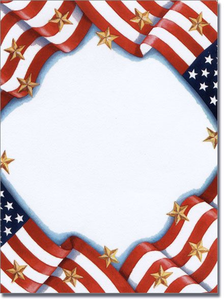 Free clipart border images of flag for labor day. Patriotic page borders memorial