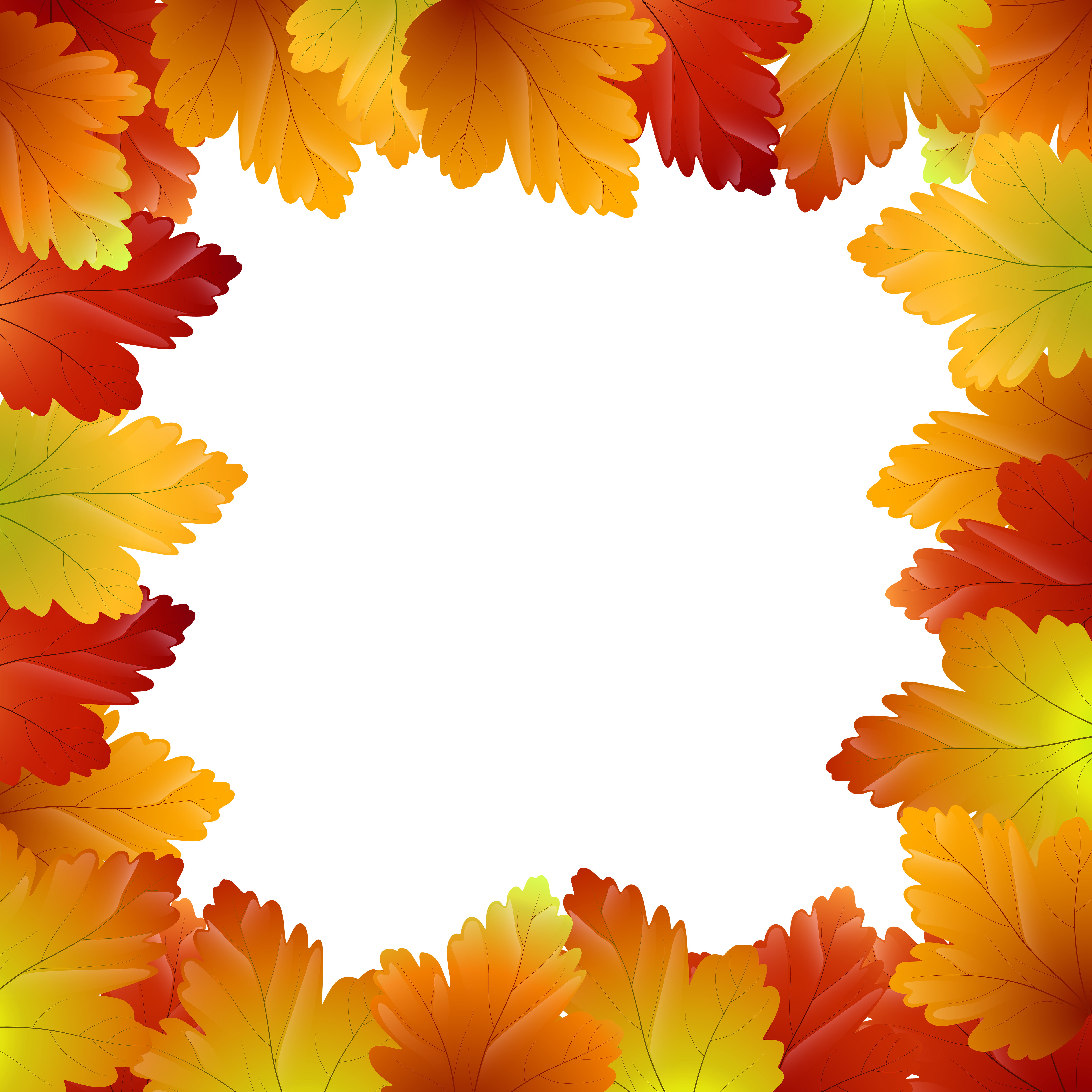 Free clipart borders autumn. Leaves border frame png