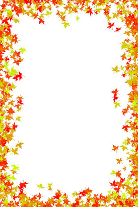 Leaves page . Free clipart borders autumn