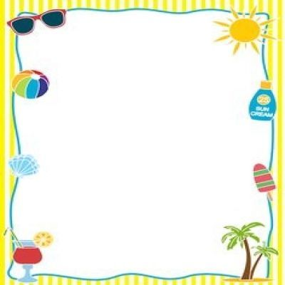 Free clipart borders summer transparent library Summer Page Border Clipart | Curves | Borders for paper, Page ... transparent library