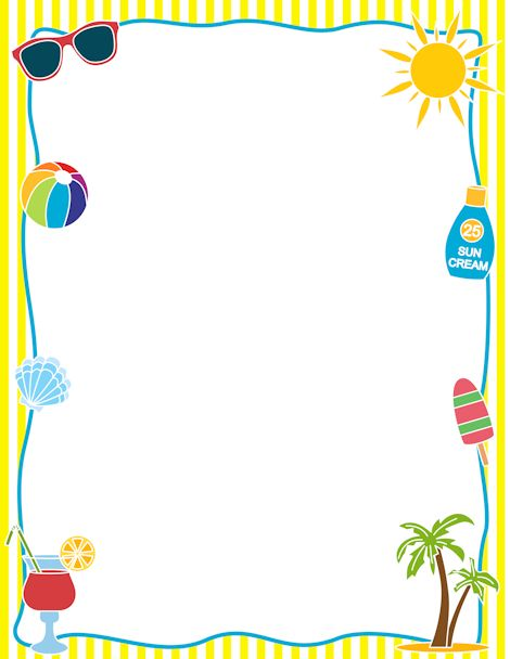 Free clipart borders summer png library download Free Summer Borders Cliparts, Download Free Clip Art, Free Clip Art ... png library download