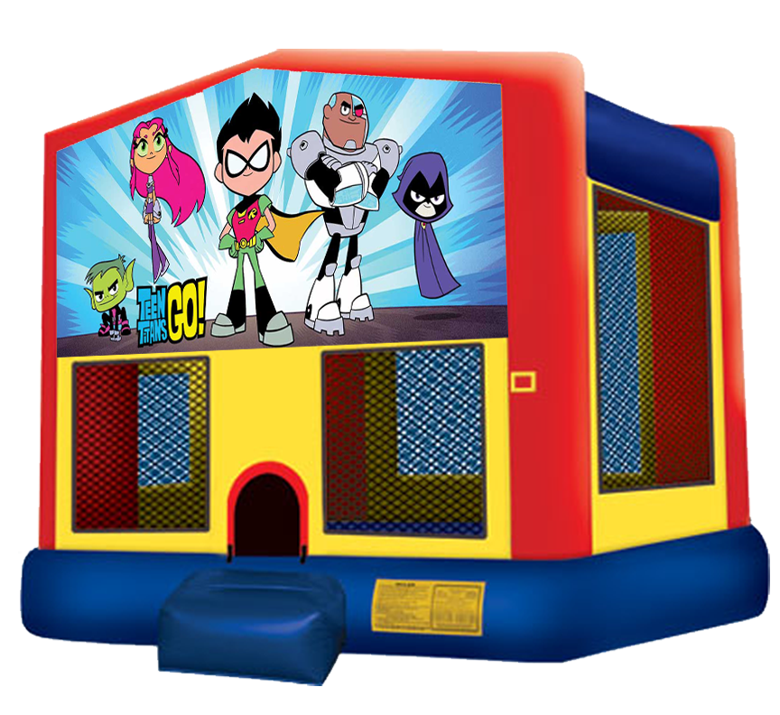 Free clipart bounce house clip free Teen Titans Go Bounce House - Bring the Teen Titans to your next ... clip free