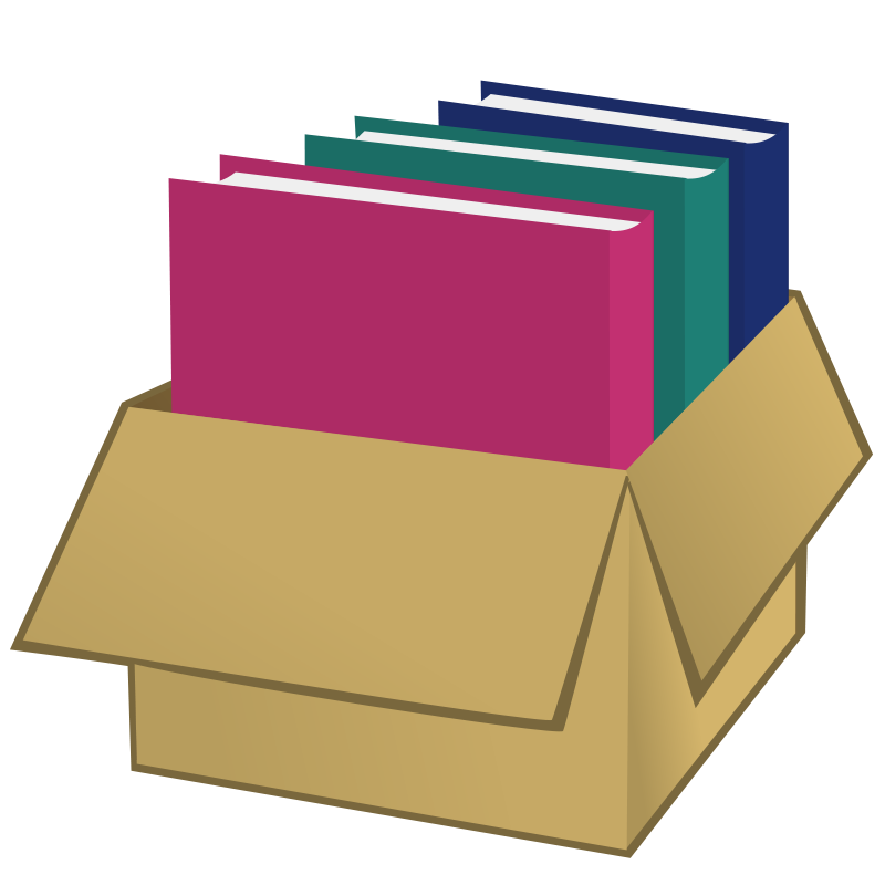 Free clipart box image transparent Free Clipart: Box with folders | nicubunu image transparent