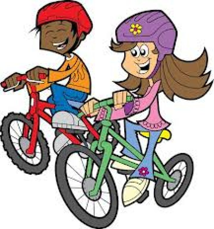 Free clipart boy riding bike with mom. Taking a ride how