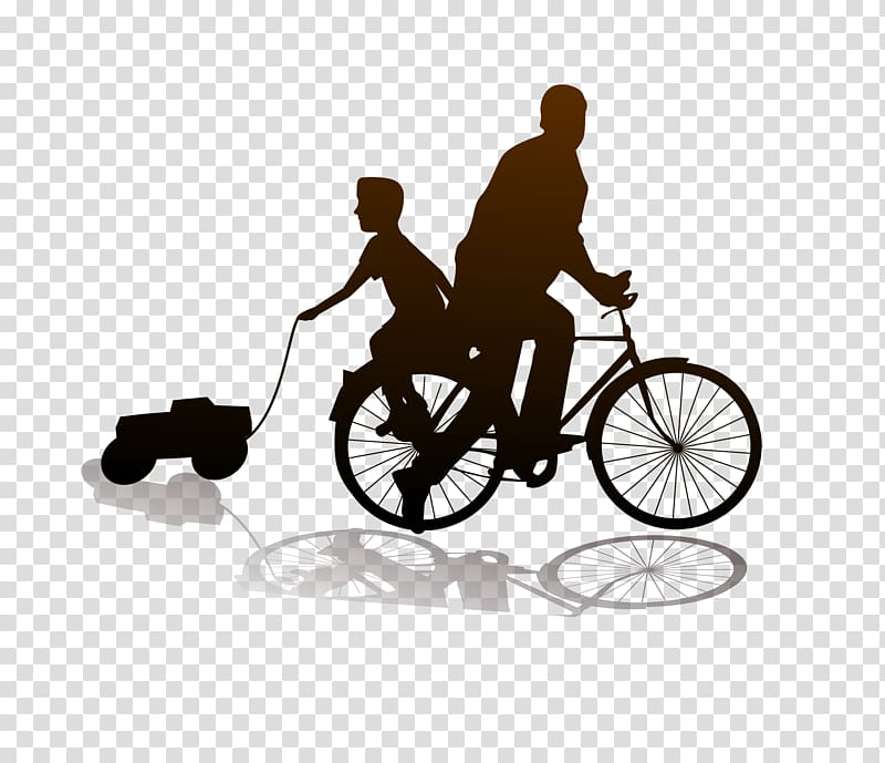 Fathers day son mother. Free clipart boy riding bike with mom