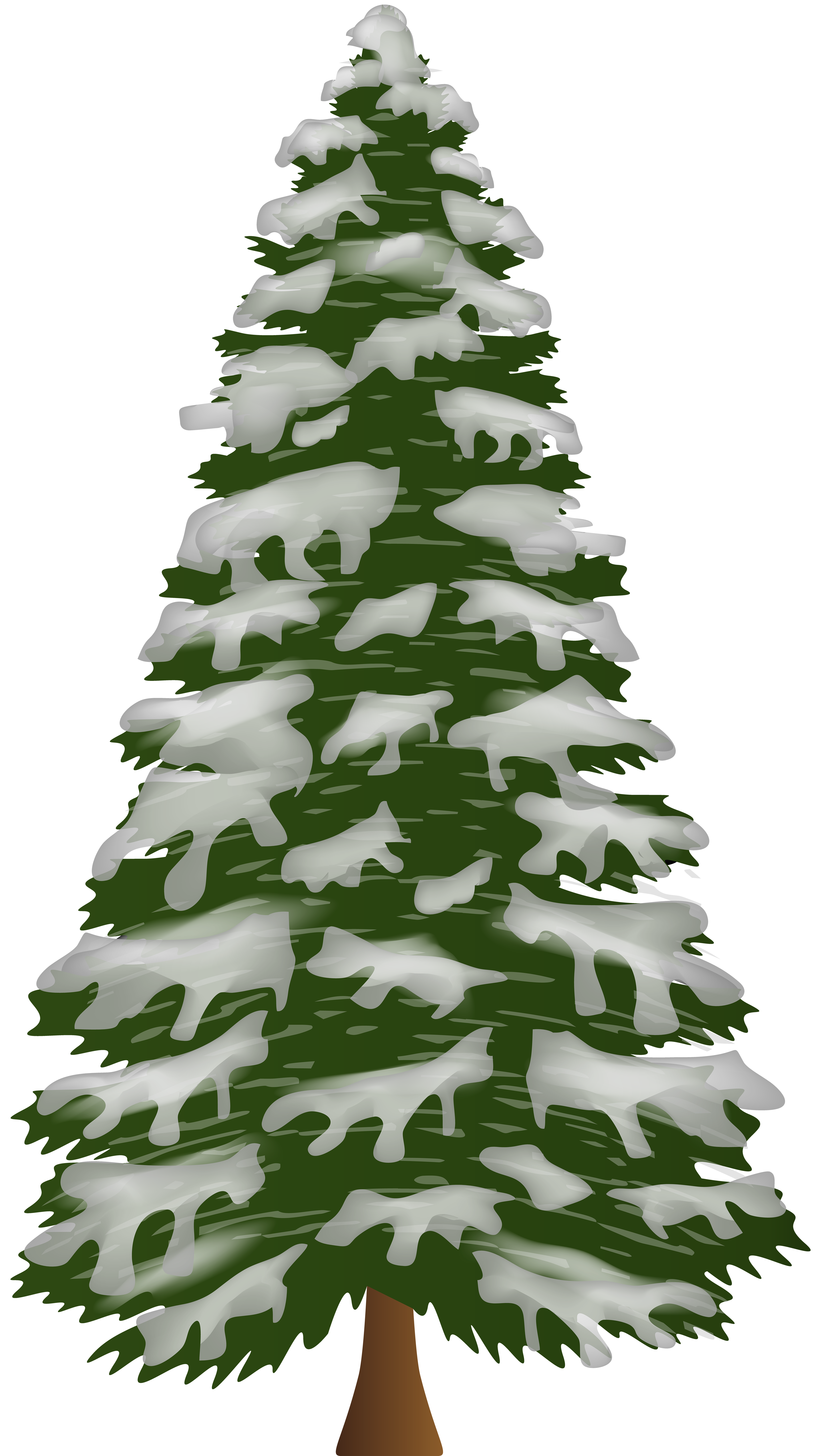 Free clipart branches with snow on them holly image black and white Download Free png Pine Tree with Snow PNG Clip Art | Gallery ... image black and white