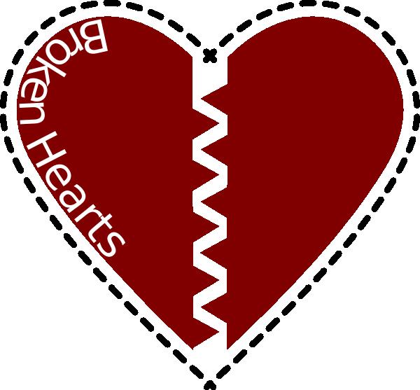 Heart broken clipart jpg library library Broken Heart Clip Art at Clker.com - vector clip art online, royalty ... jpg library library