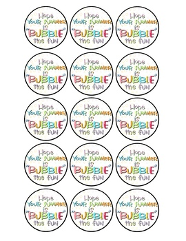 Free clipart bubble speech fun and bubbly summer clip freeuse library Summer Bubble Tag Worksheets & Teaching Resources | TpT clip freeuse library