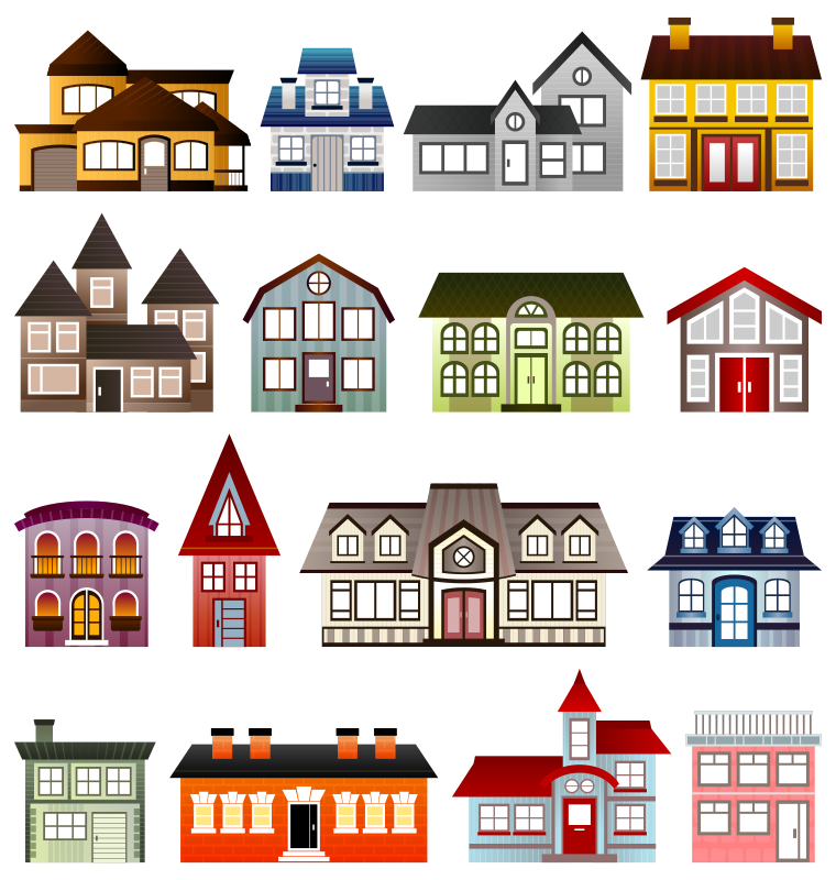 House project clipart clip black and white library Free Clipart: Simple Houses | Architecture | Viscious-Speed ... clip black and white library