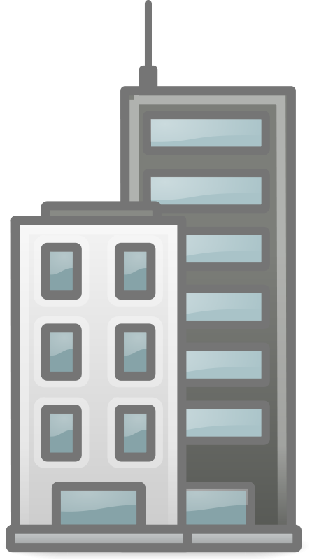 Free clipart buildings picture black and white stock Free Clipart: Buildings | b.gaultier picture black and white stock