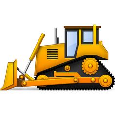 Free clipart bulldozer picture royalty free Bulldozers clip art   Clipart Panda - Free Clipart Images picture royalty free