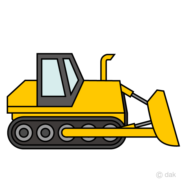 Free clipart bulldozer image royalty free download Simple Bulldozer Clipart Free Picture Illustoon image royalty free download