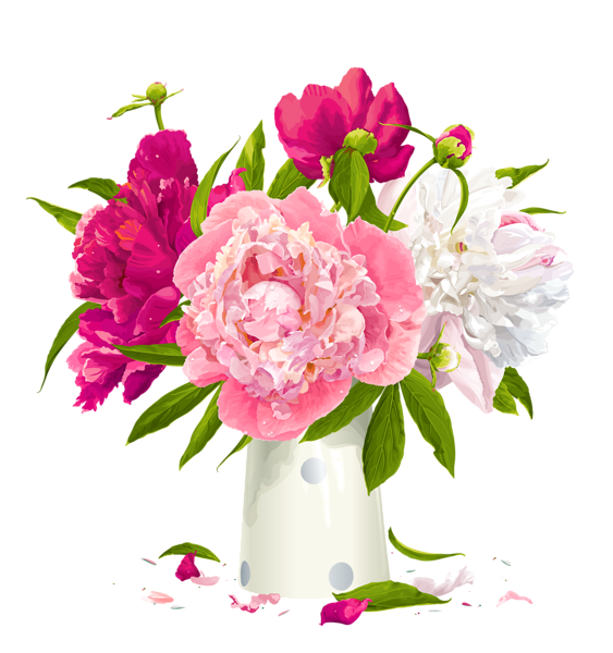 Free clipart flower arrangements picture black and white http://gallery.yopriceville.com/Free-Clipart-Pictures/Flowers-PNG ... picture black and white