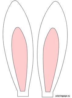 Free clipart bunny ears. Printable easter rabbit holidays