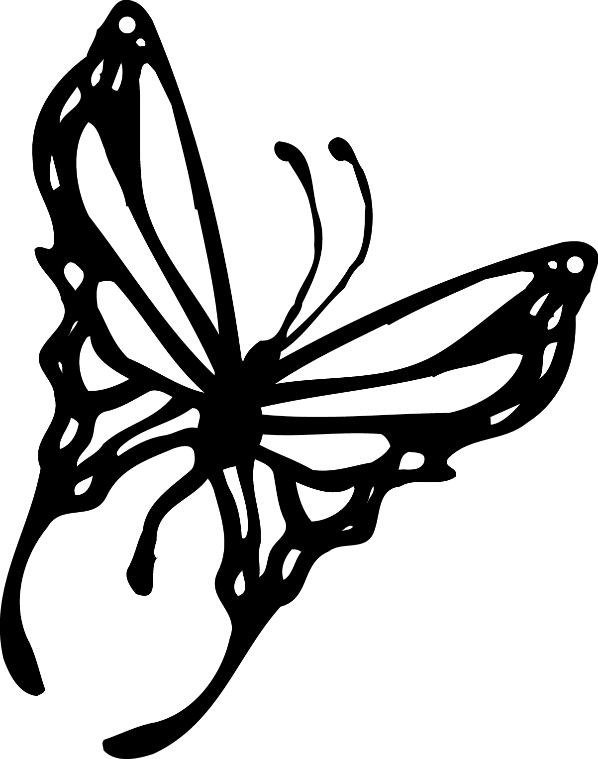 Free clipart butterfly images graphic black and white download Butterfly Outline Clipart | Clipart Panda - Free Clipart Images graphic black and white download