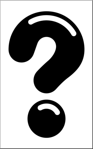 Free clipart b&w symbols question mark image freeuse library Clip Art: Punctuation: Big Question Mark 2 B&W 2 I abcteach.com ... image freeuse library