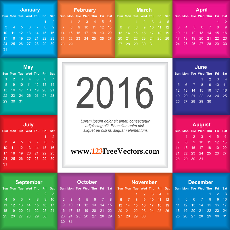 Free clipart calendar 2016 black and white download Download Calendar 2016 Free by 123freevectors on DeviantArt black and white download