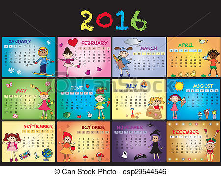 Free clipart calendar 2016 picture transparent Calendar 2016 Clipart and Stock Illustrations. 14,038 Calendar ... picture transparent