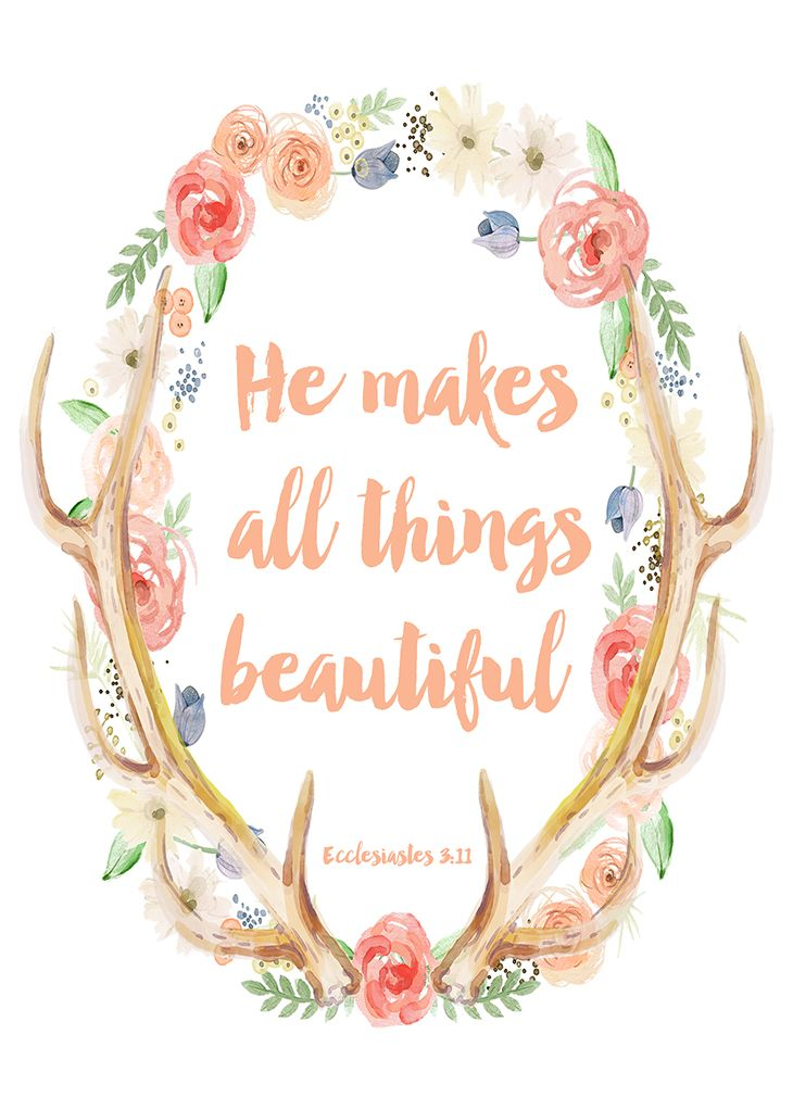 Free clipart carrying a heavy load bible quotes picture library stock He Makes All Things Beautiful - Free Spring Printable Art ... picture library stock