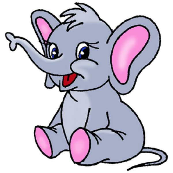 Free cartoon cliparts. Elephant clip art clipart