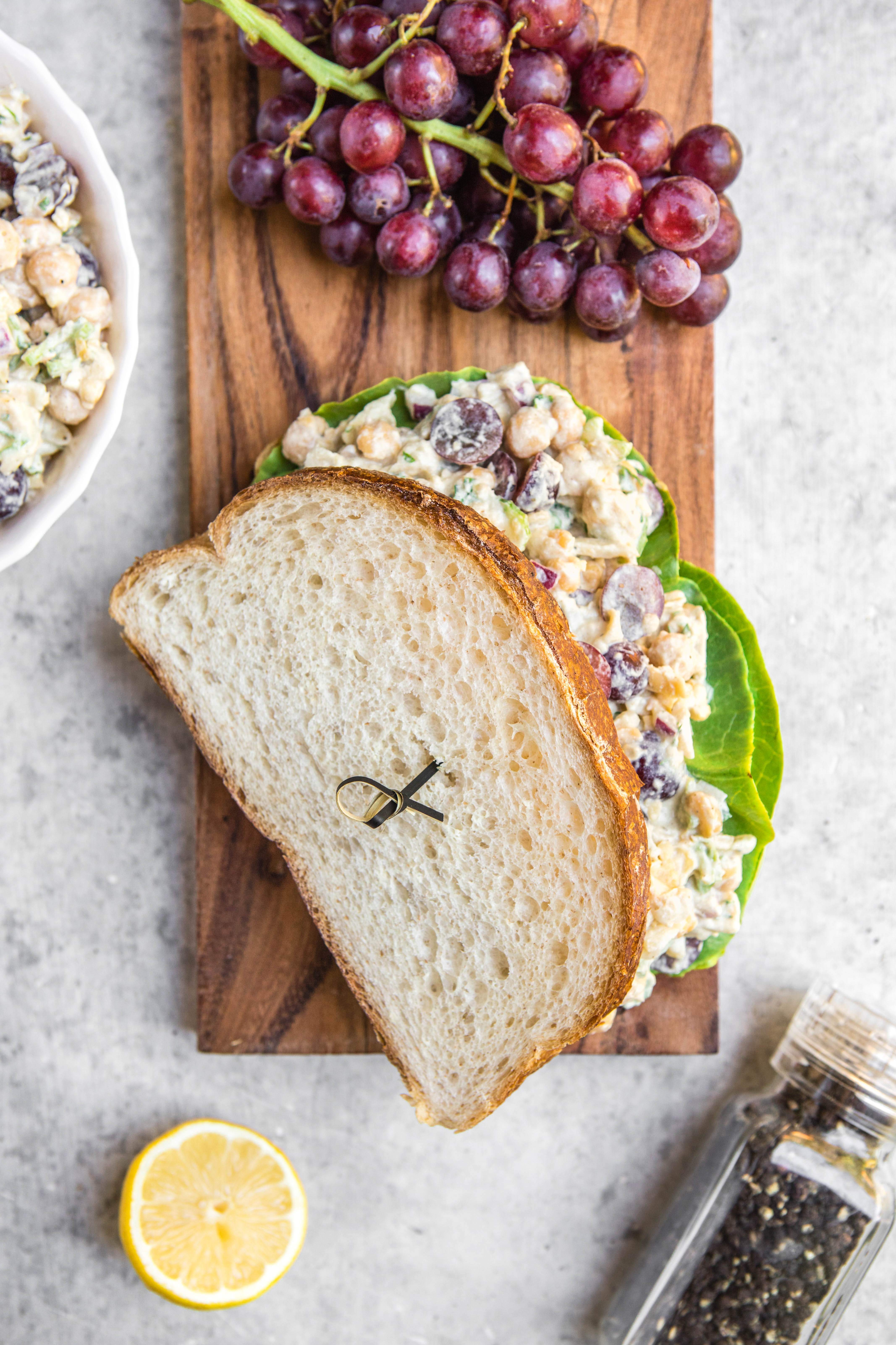 Free clipart celery with hummus and raisins on it picture download The Ultimate Chickpea Salad Sandwich picture download