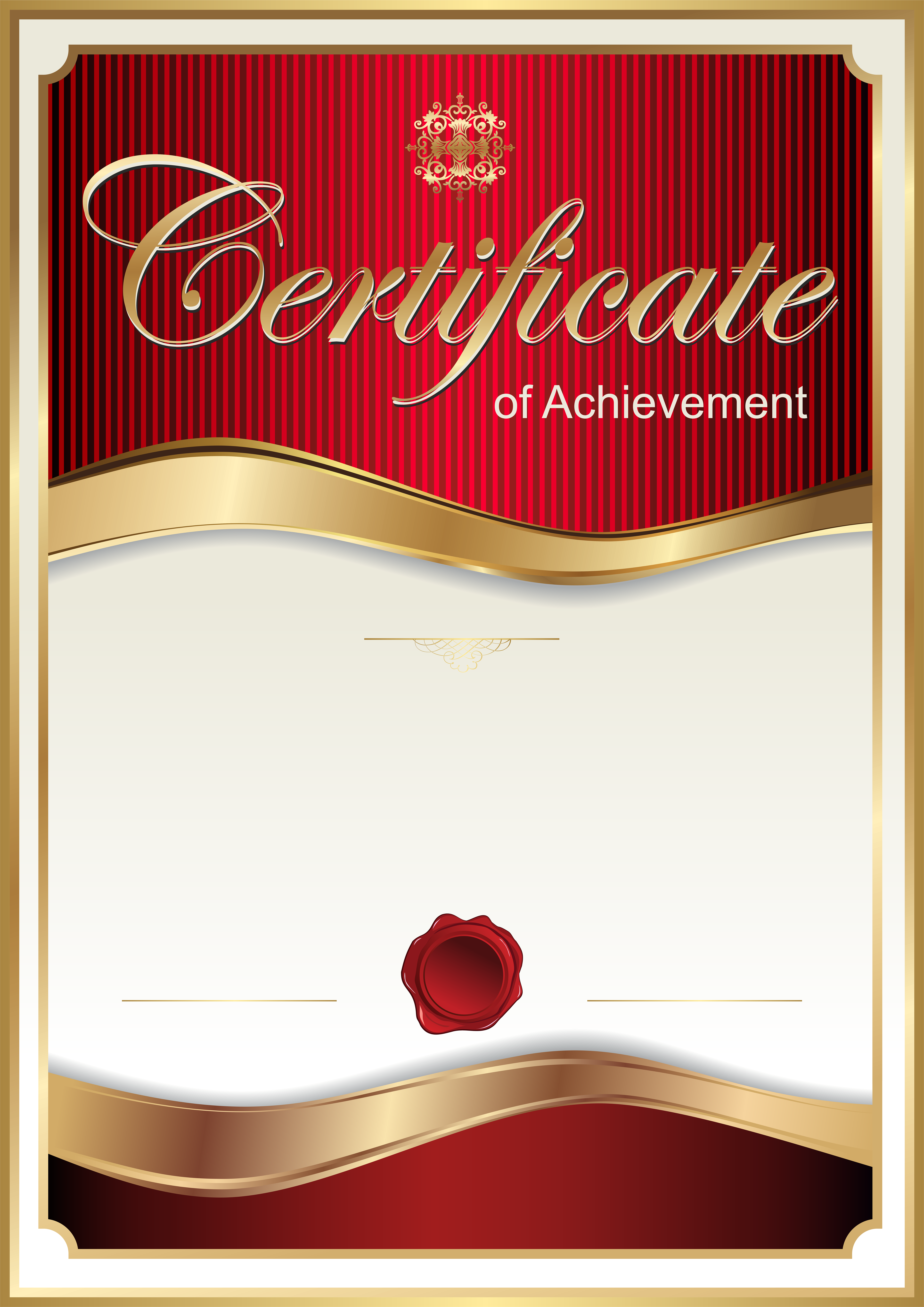Free clipart certificates template banner library stock Red Certificate Template PNG Clip Art Image | Gallery Yopriceville ... banner library stock