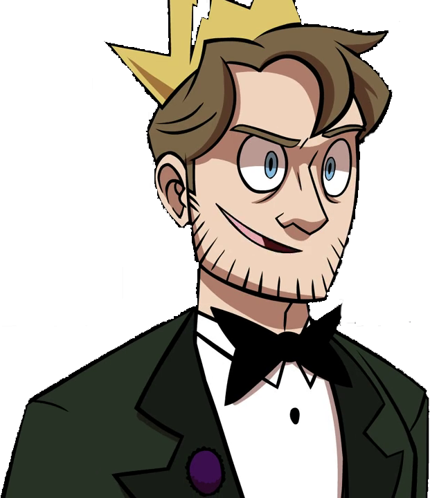 Free clipart character man with a bow tie and crown png black and white download The Mad King | X-Ray and Vav Wiki | FANDOM powered by Wikia png black and white download