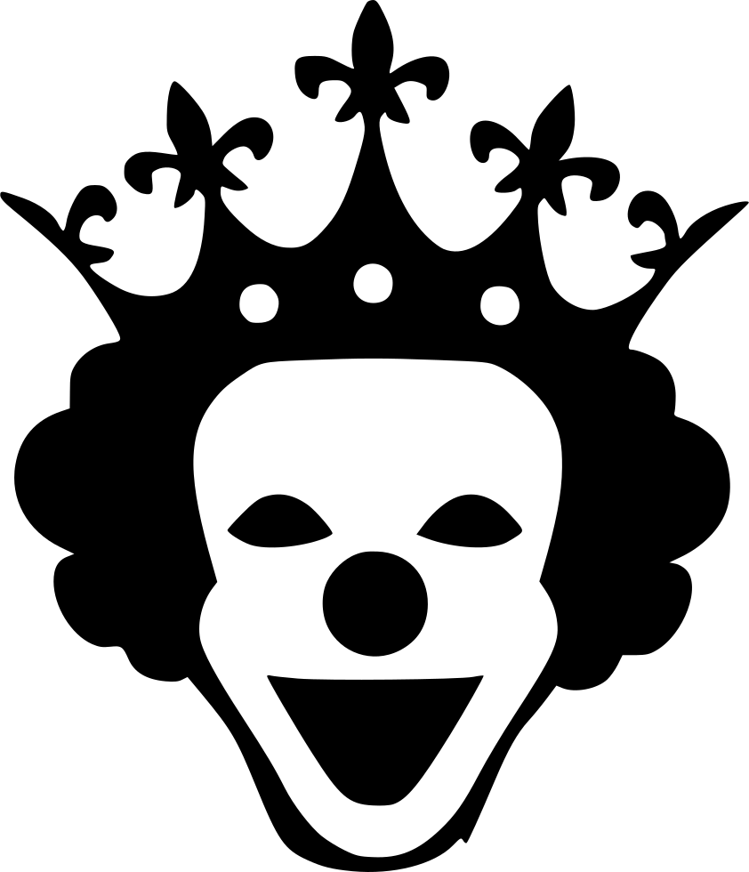 Free clipart character man with a bow tie and crown vector black and white stock Horror Queen Mask Smile Crown Svg Png Icon Free Download (#556374 ... vector black and white stock