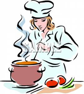 Free clipart chef image black and white Chef Cooking Clipart - Clipart Kid image black and white