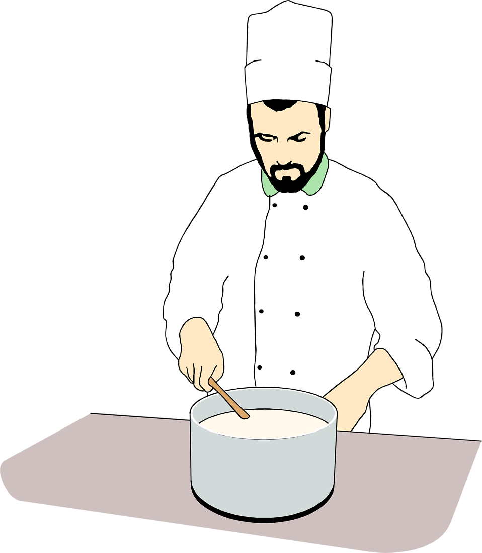 Free clipart chef cooking png black and white library Chef | Free Stock Photo | Illustration of a chef stirring a pot | # 7499 png black and white library