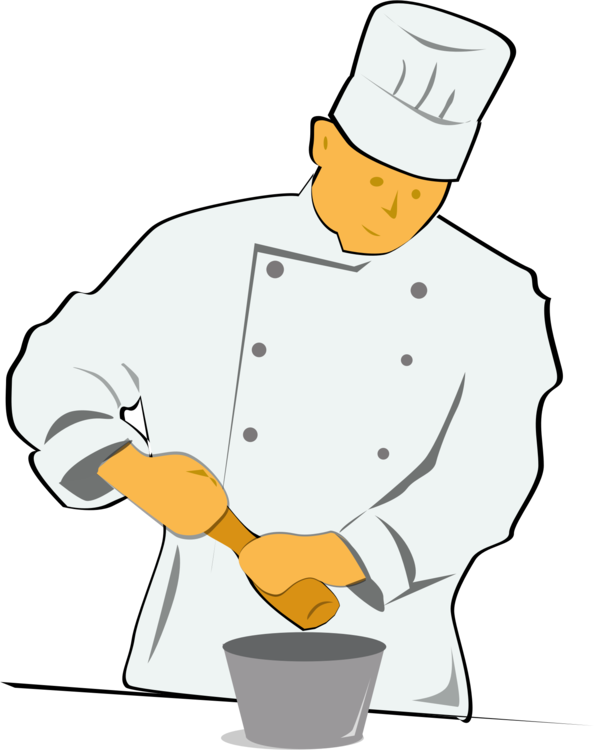 Free clipart chef cooking vector transparent stock Chef's uniform Cooking Computer Icons Menu free commercial clipart ... vector transparent stock