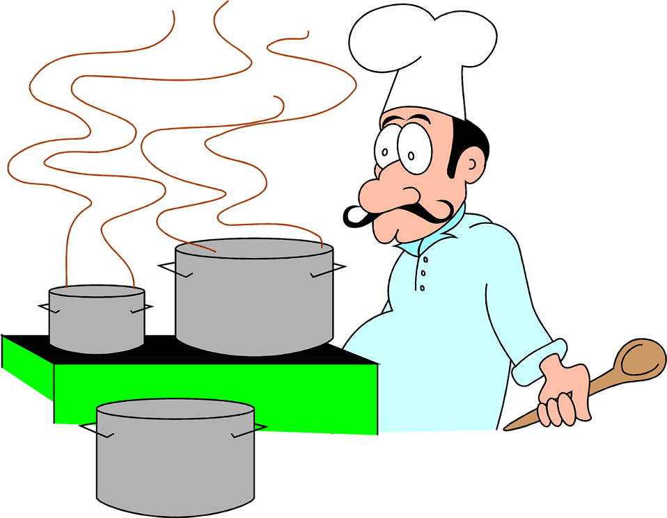 Free clipart chef cooking svg black and white Chef | Free Stock Photo | Illustration of a cartoon chef with ... svg black and white