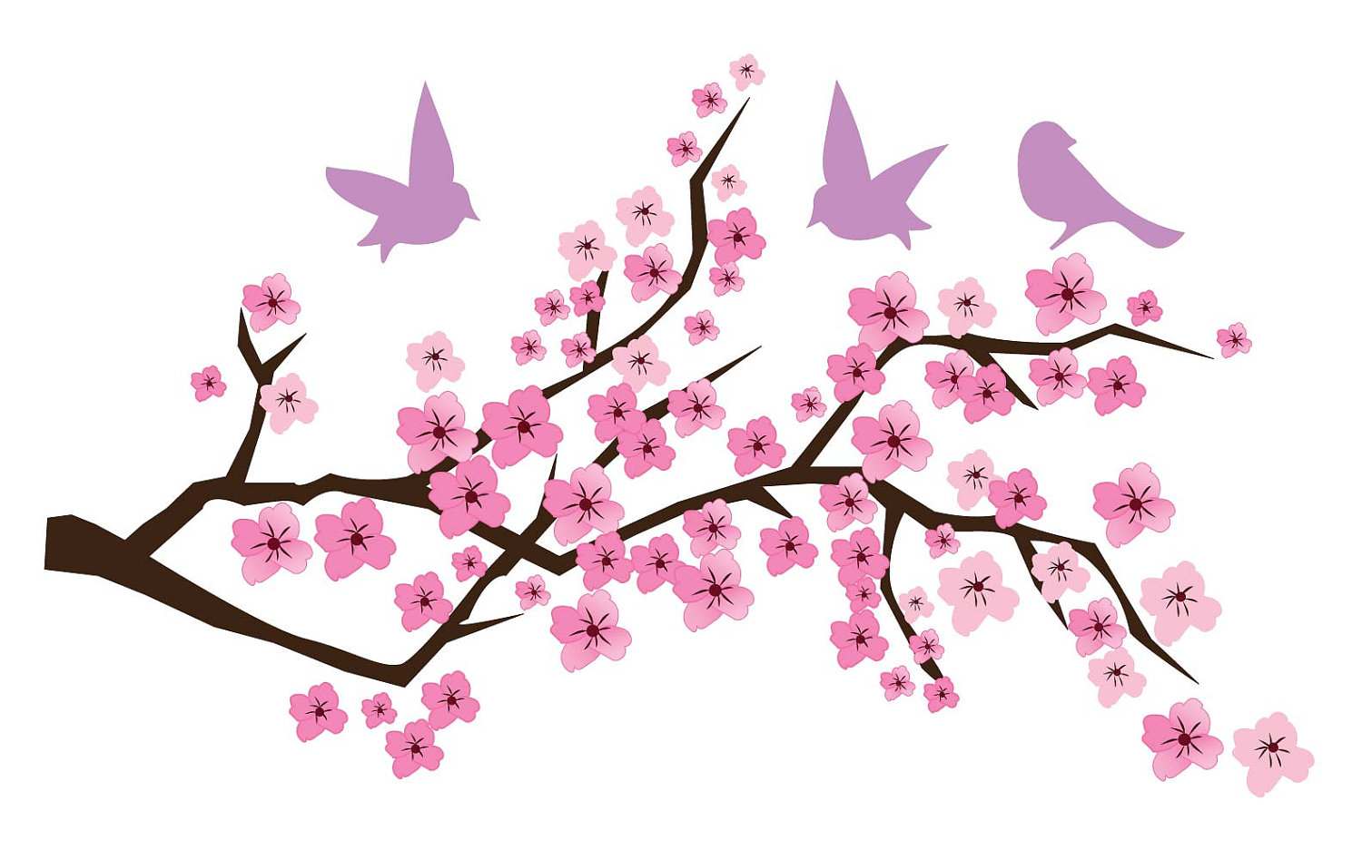 Free clipart cherry blossoms svg transparent stock Cherry Blossom Art Free Download Clip Art - Clip Art Library svg transparent stock