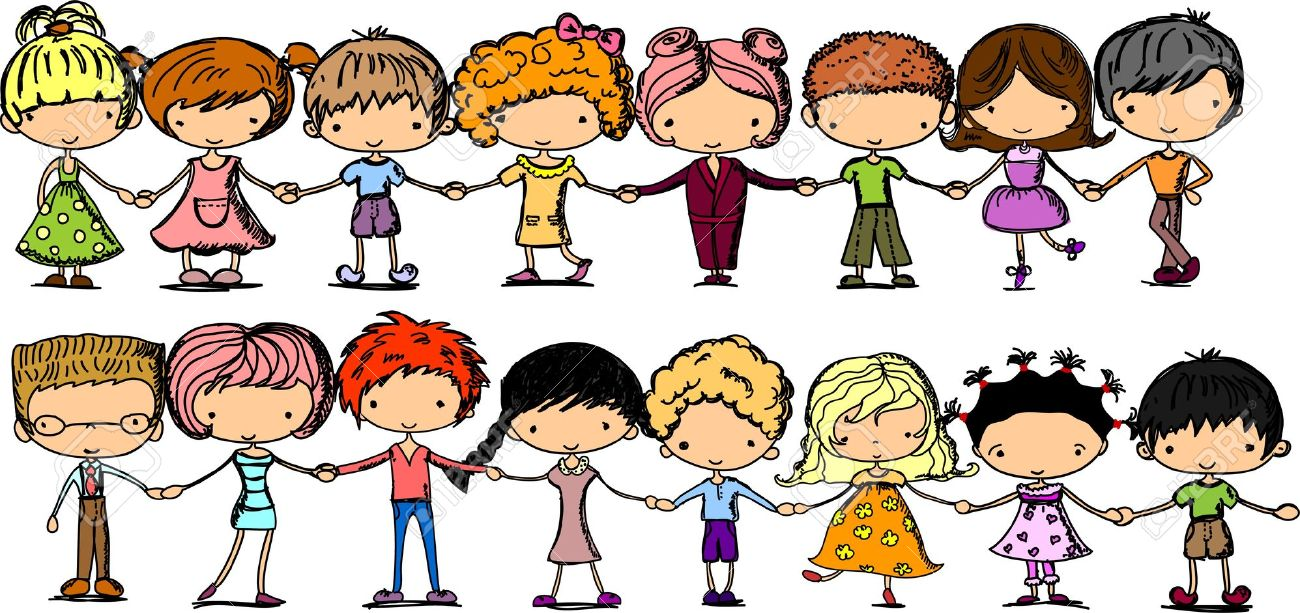 Free clipart children holding hands.  kids clipartlook