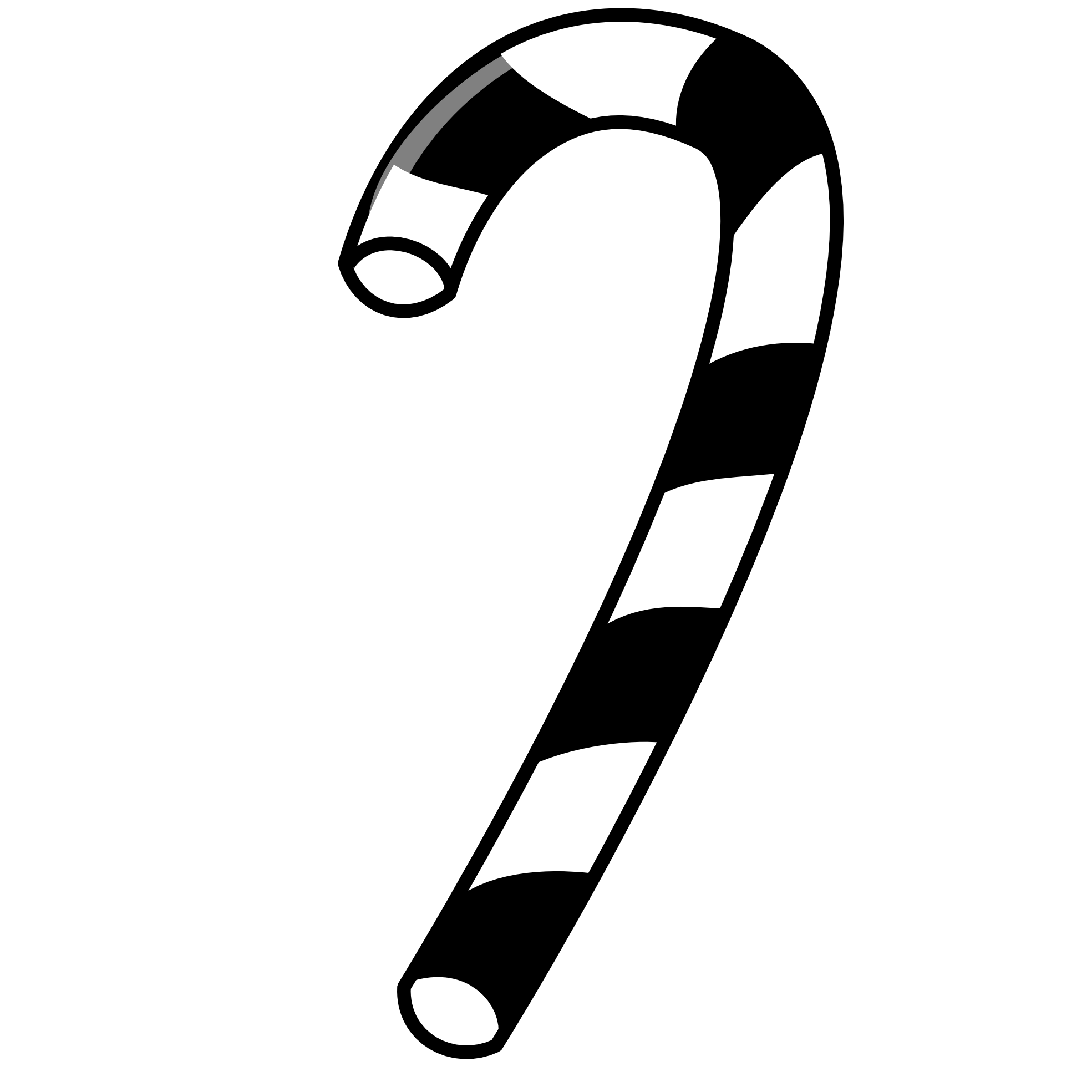 Free clipart christmas black and white candy cane. Xmas