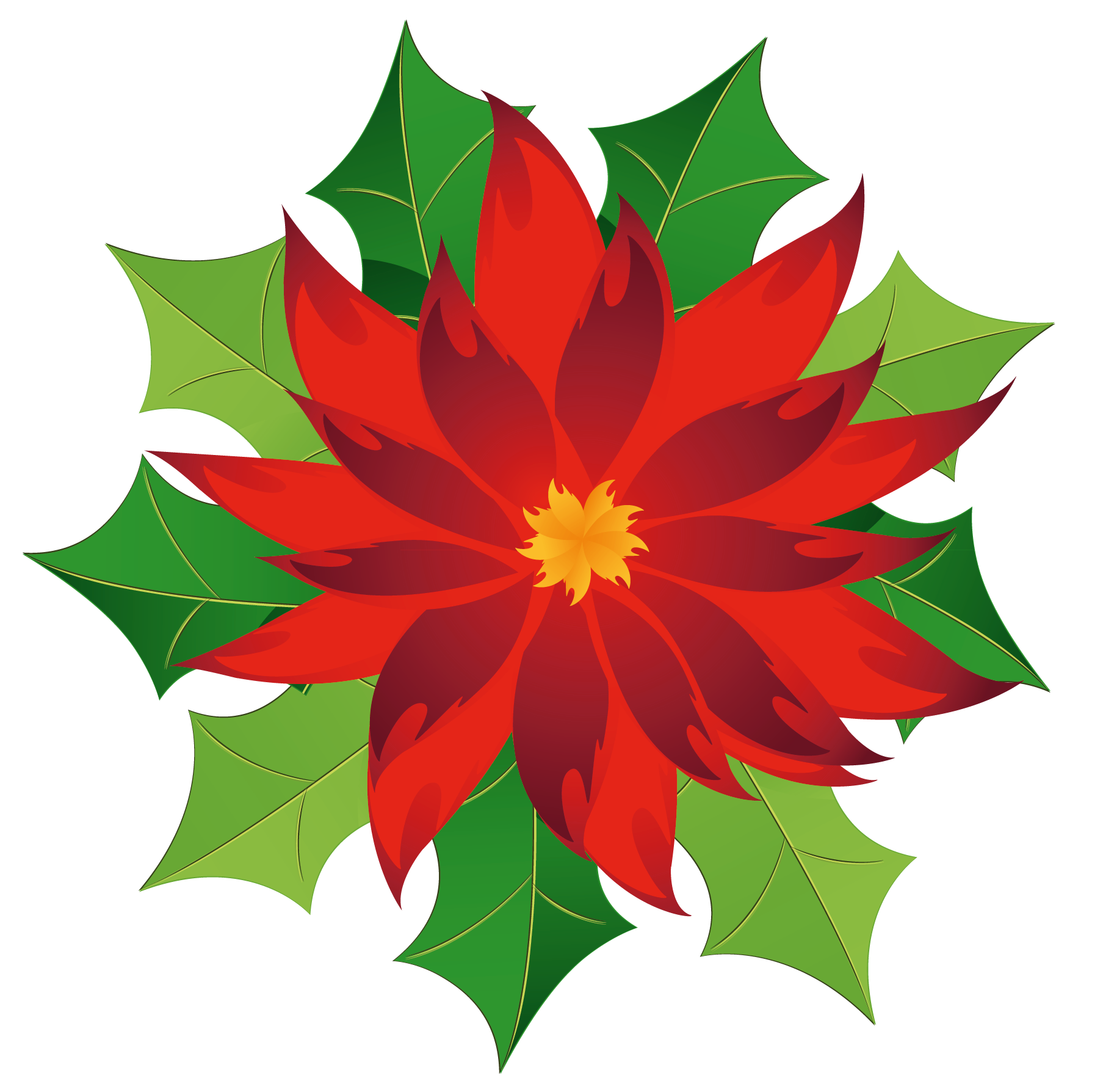 Christmas flower clipart svg royalty free download Christmas Poinsettia Clipart | Gallery Yopriceville - High-Quality ... svg royalty free download