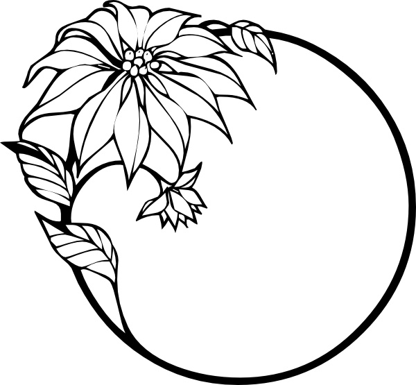 Free clipart christmas flowers graphic Christmas Flower clip art Free vector in Open office drawing svg ... graphic