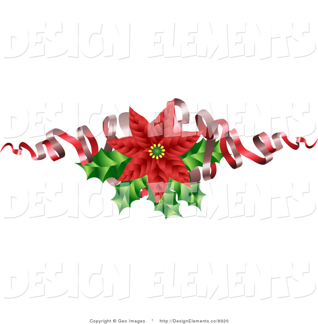 Free clipart christmas flowers clipart free download Clipart christmas flower ribbon - ClipartFest clipart free download