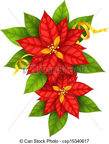 Free clipart christmas flowers png black and white Poinsettia Illustrations and Clipart. 3,644 Poinsettia royalty ... png black and white
