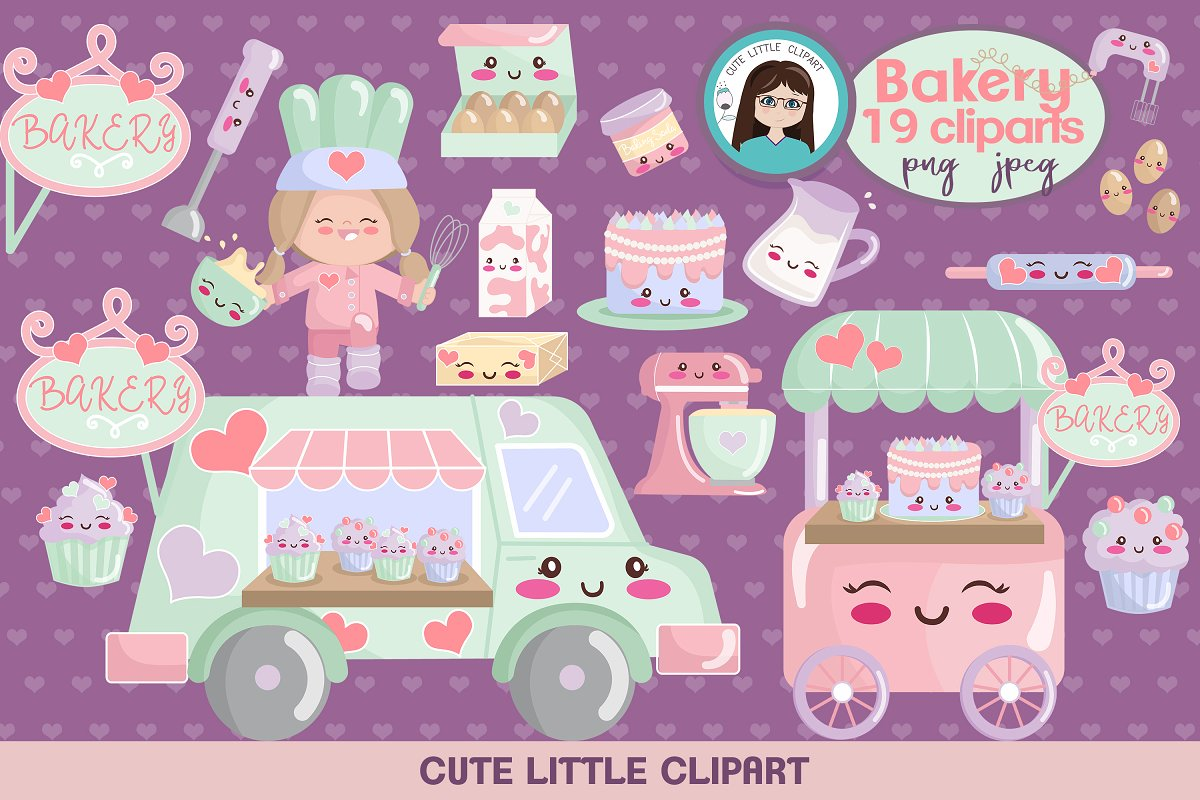 Cute cliparts . Free clipart christmas letter r with bakery food