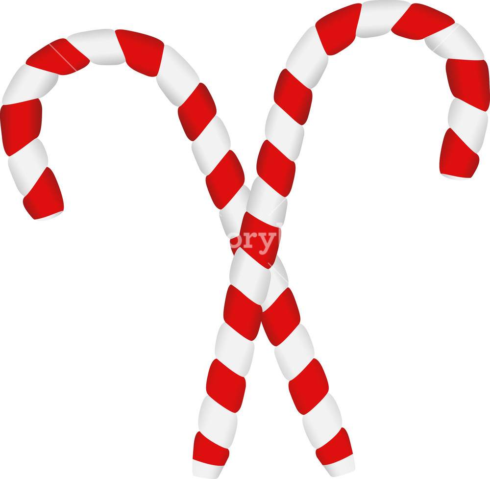 Free clipart christmas letter r with candy canes clip library library Two Candy Canes - Christmas Vector Illustration Royalty-Free Stock ... clip library library