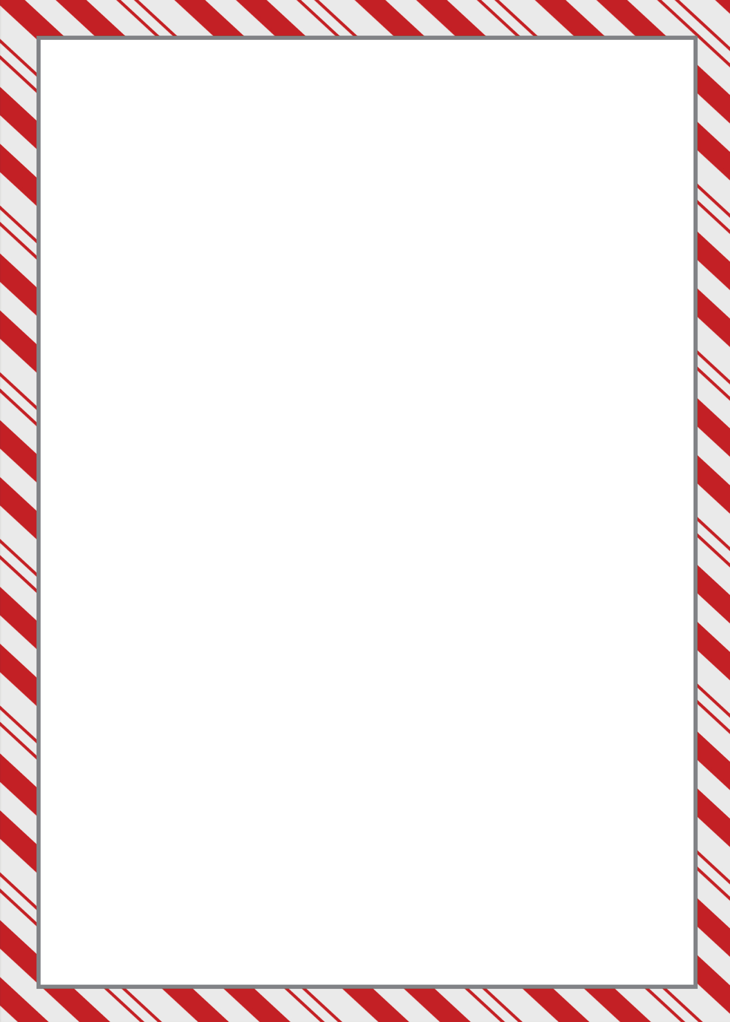 Free candy cane border clipart