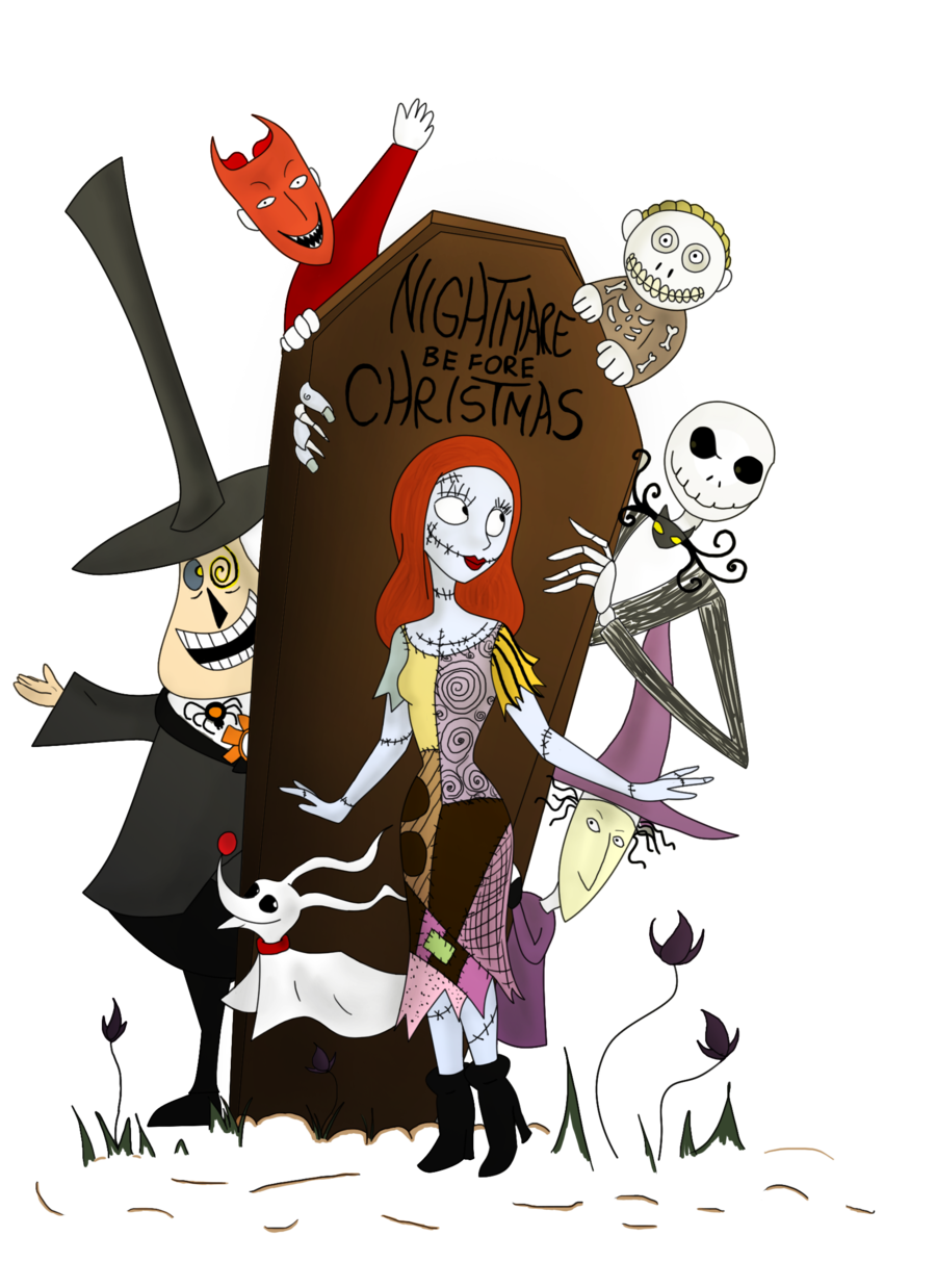 Free clipart christmas of hero night before. Nightmare group with items